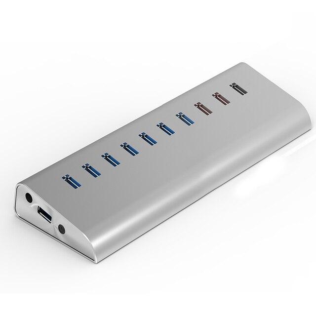 Мульти usb 3.0 концентратор 10 port splitter usb powered usb hub USB/Тип C концентратор SD card reader адаптер hub внешний компьютер аксессуары