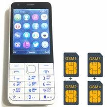 """4 Sim Karten 4 Standby 2,8 """"handy mp3 gsm china 1000 mAh batterie Telefon Billige HANDYS Russische tastatur taste H-mobile C9"""