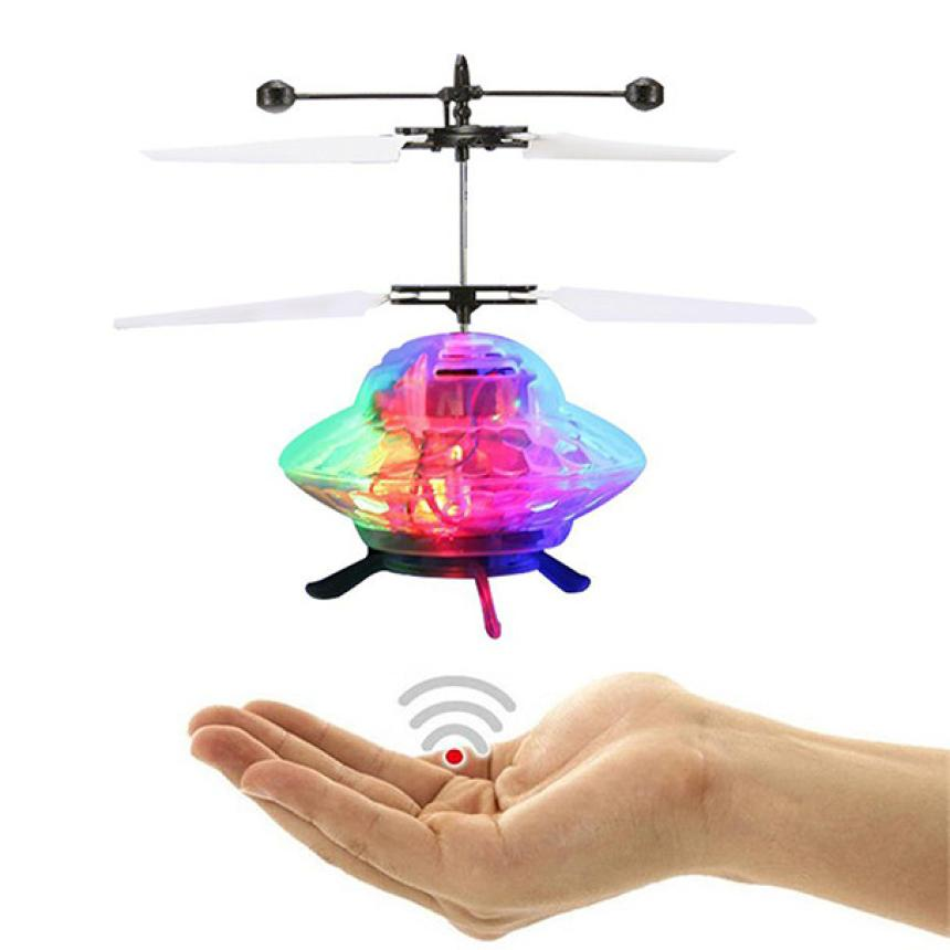 Toy for Kids/Children Hand Flying UFO Ball LED Induction Suspension RC Aircraft Remote Control Flying Toys Drone Gifts Cherryb