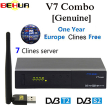 Hot Original V7 Combo Receptor Satellite Receiver with Wifi C lines DVB S2 T2 Biss Key