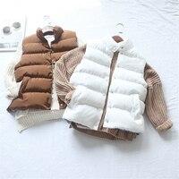 Kadınlar için Mont sıcak Bahar Kış Yüksek kaliteli Yelek giyim Kore aşağı ceket kalın sıcak pamuk yelek