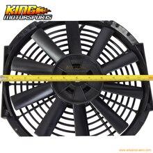 For 12 Inch Universal Slim Fan Push Pull Electric Radiator Cooling Fan 12V Black