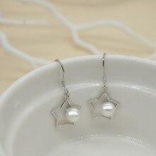 1Pair Korean Fashion Geometric Star Tassel Earrings Simple Imitation Pearl Earring Jewelry Gift Romantic Ornaments Accessories
