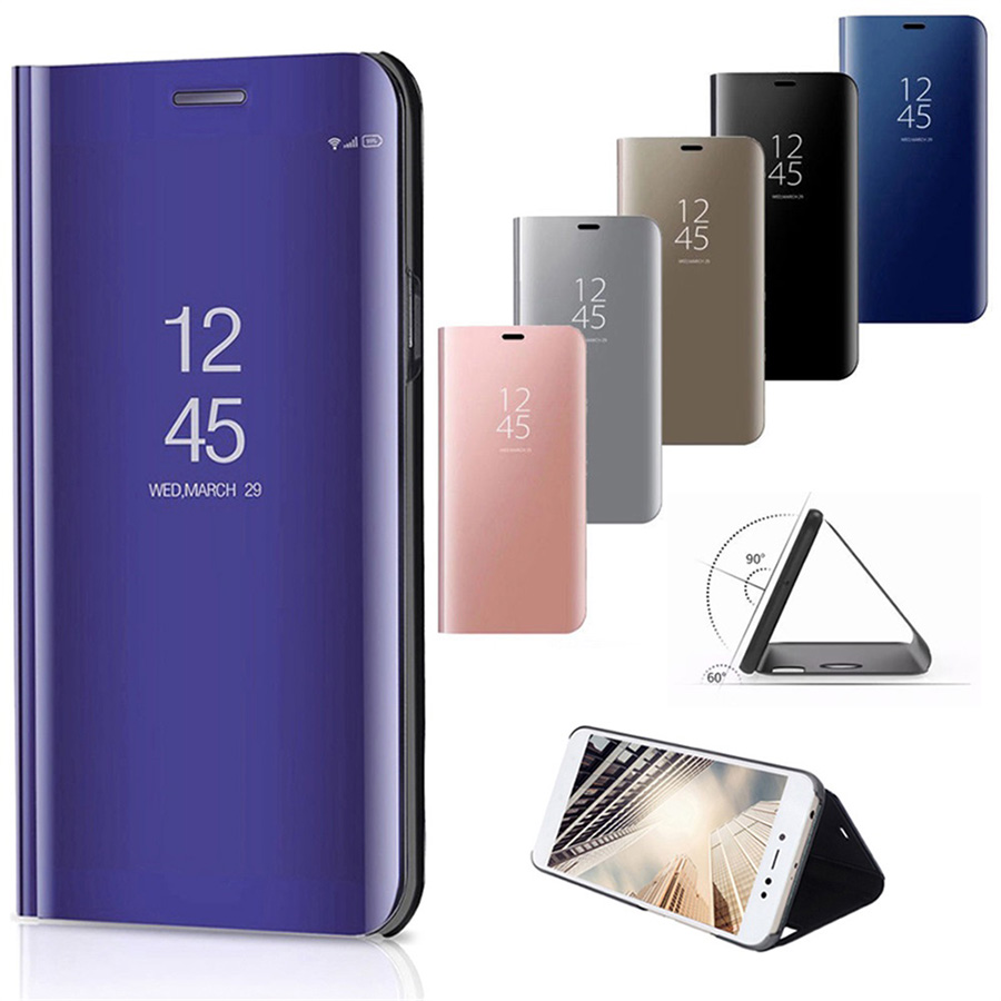 sports shoes 9d521 87b77 US $2.05 6% OFF|Clear Mirror Smart Case For Huawei P20 Pro P10 P9 Plus Mate  10 Pro 9 8 Leather Case For Honor 10 V10 8 9 Lite P Smart Play Cover-in ...
