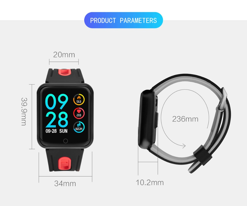 Smart Watch P68 Sports IP68 fitness bracelet activity tracker heart rate monitor blood pressure for ios Android apple iPhone 6 7 21