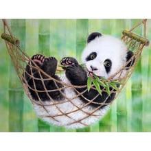 Diamond Painting Full Square Embroidery Panda Paint Diamonds Beads Pictures Rhinestone Animal 5D Cross Stitch Kit a691