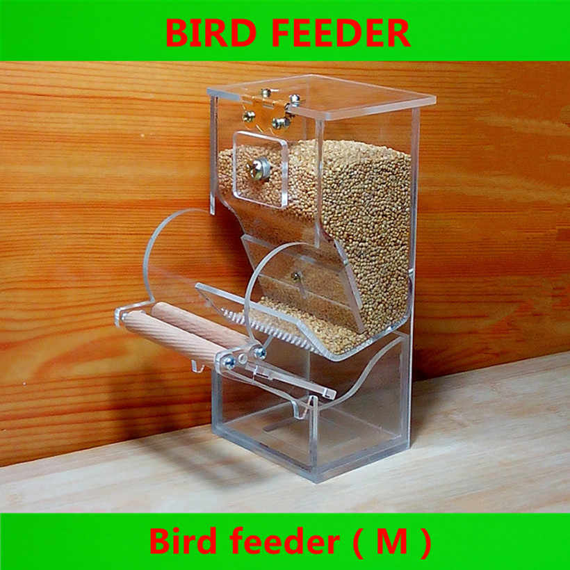 חדש ציפור מזון מכולות אוטומטי האכלה תחת מזין סטרלינג טייגר אדמונית קוקטיילים תוכי קטן אנטי-הקצעה קיסר