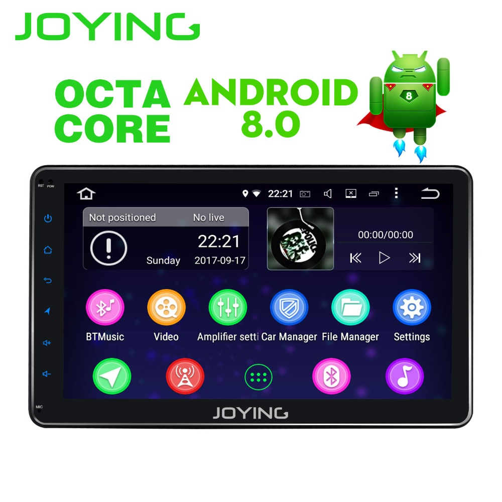 JOYING 10.1 ''4 gb di RAM Octa 8 Core Android 8.0 unità di testa 2 din auto radio stereo lettore multimediale android auto supporto Carpaly