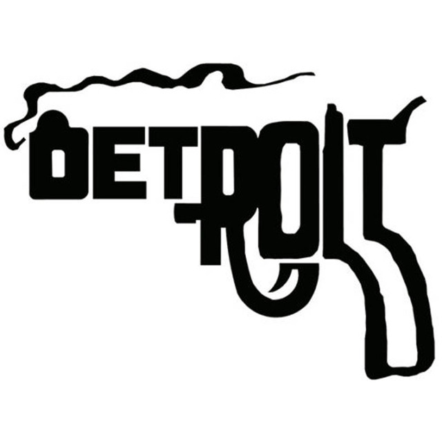14x102 Cm Michigan Detroit Pistole Vinyl Aufkleber Auto Styling