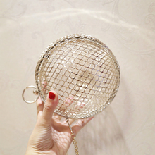 Evening Ladies Luxury Wedding Party Bags Hollow Metal Ball women shoulder bag gold Cages Women Round Clutch bag CrossBody Purse цена и фото