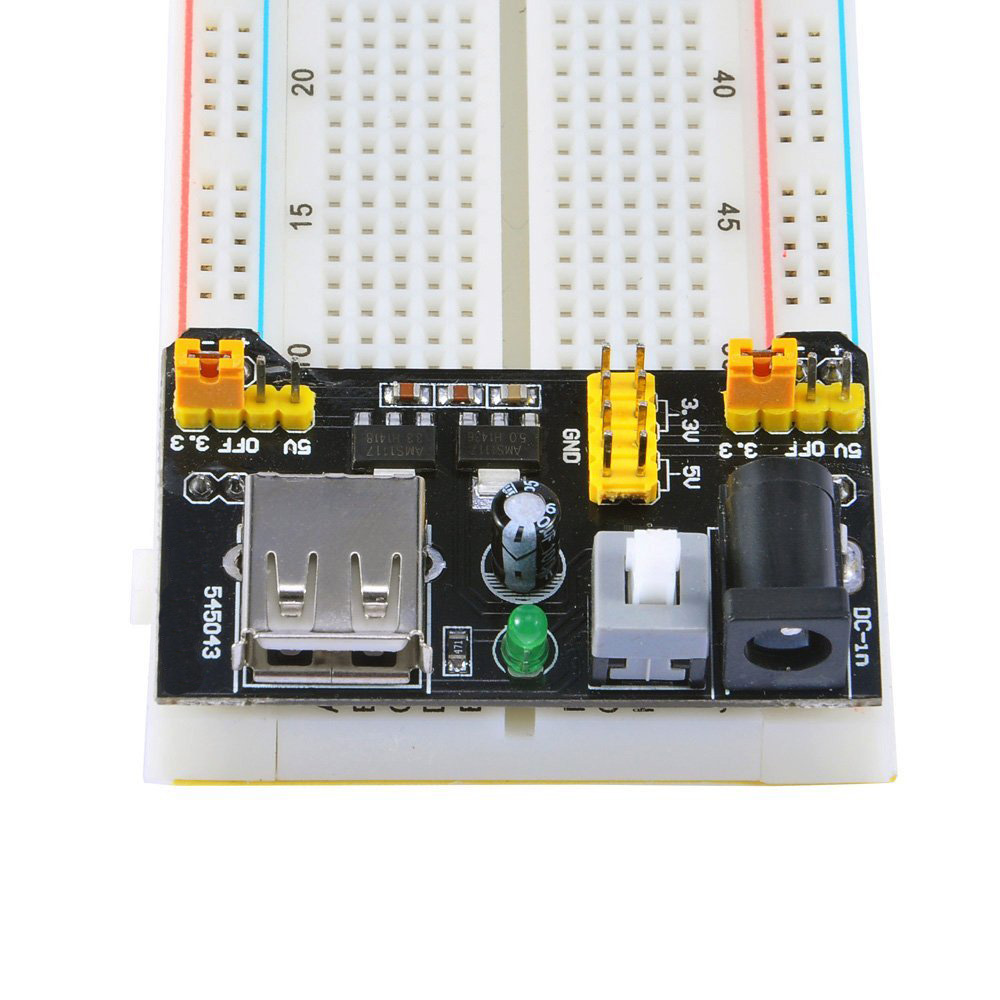 Hot MB102 Breadboard Power Supply Module 3.3V/5V For Arduino Board UNO Mega 2560 R3 Solderless Breadboard Free Shipping