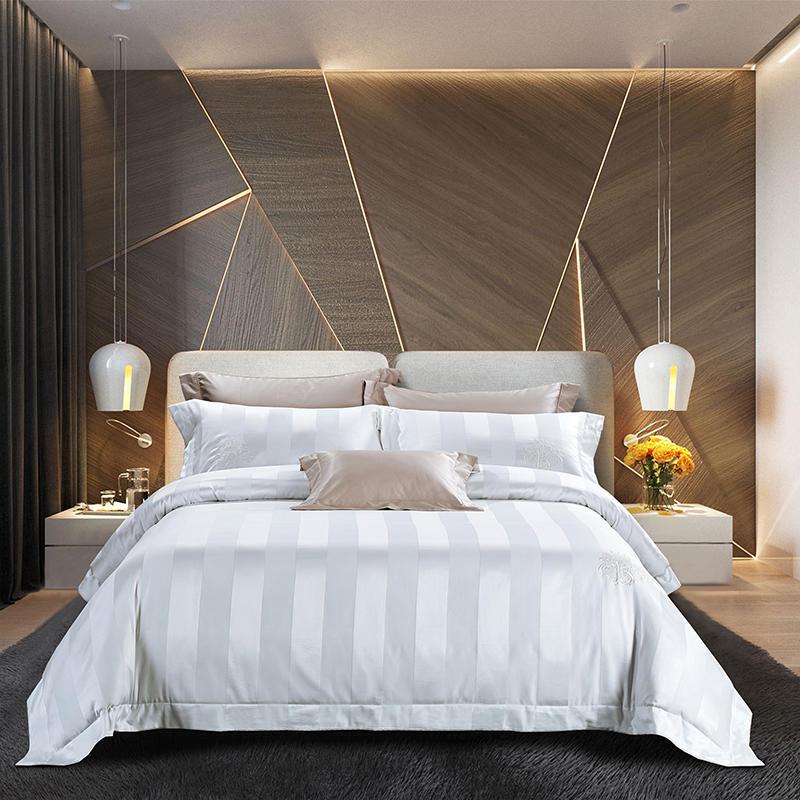 1000TC Égyptien coton Soyeux Ensemble de Literie Roi Reine Taille Blanc drap de Lit ensemble Housse de Couette Lit couverture ropa de cama parure de lit