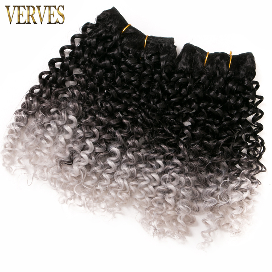 VERVES 2 piece 65g/piece brown braids hair weaving synthetic curly ombre braiding hair extentions free shipping