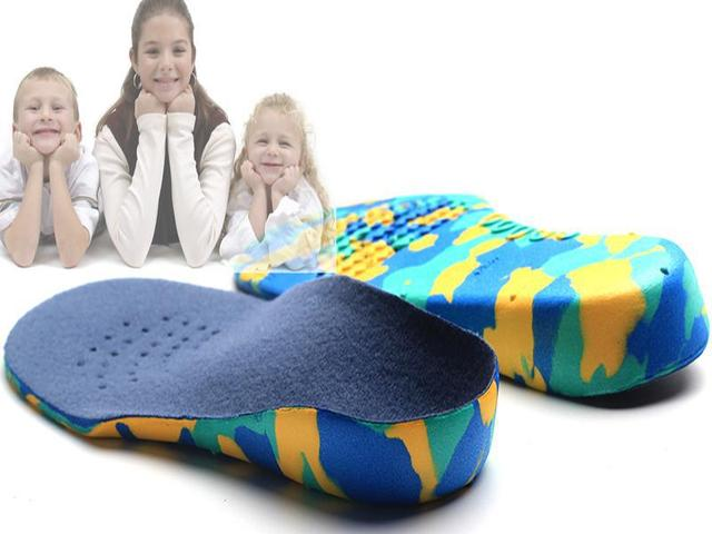 MOONBIFFY Trẻ Em Trẻ Em EVA chỉnh hình lót cho trẻ em giày phẳng chân vòm hỗ trợ dụng cụ chỉnh hình Pads Correction chăm sóc bàn chân