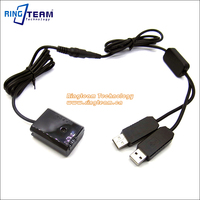 Double USB Power Adapter DC Coupleur AC-PW20 NP-FW50 pour Sony ILCE A7 A7II A7R A7S A7RII A7 2 A5000 A6300 A6500 A7000 RX10 Caméras