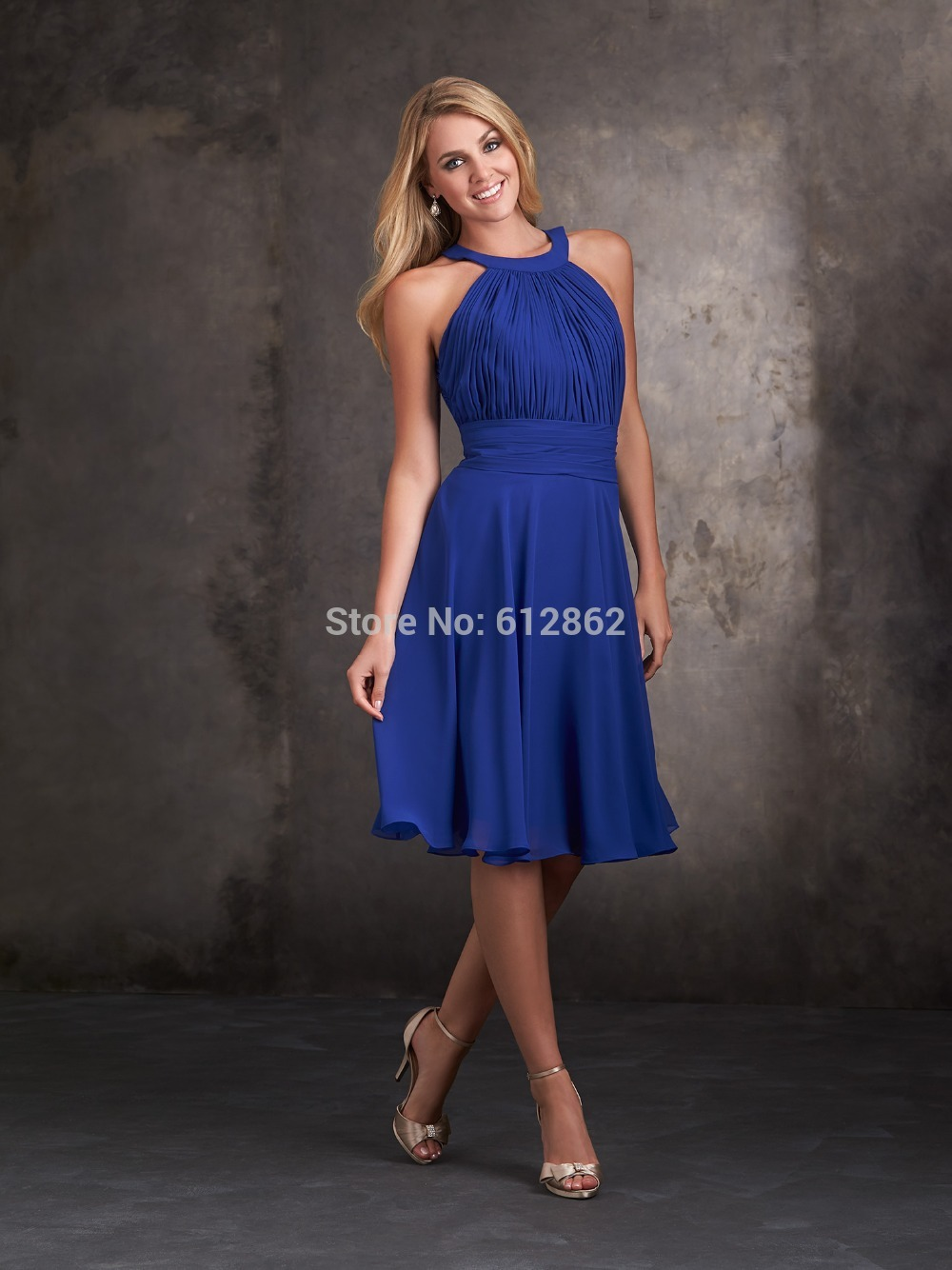 Online Buy Wholesale royal blue short bridesmaid dresses from ...