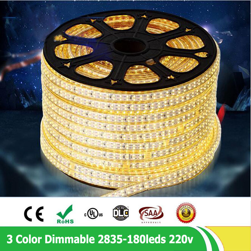 20m / tétel 2835 SMD kettős sor 180leds / m 220V - 240V - LED Világítás - Fénykép 4