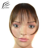 jeedou Thin Flimsy 10g Blunt Bangs Clip on Synthetic Hair Extension Natural Inspiration Ideas Completely Revamp Any Hairstyle