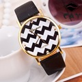 New Geneva Brand Chatter Marks 7 Colors PU Leather Band Strap Fashion Dress Quartz Watch Wristwatch for Women Ladies OP001