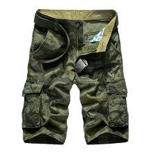 531f67459d Camuflaje Camo Cargo Shorts hombre 2018 nuevo hombre Casual Shorts hombre  suelto trabajo Shorts Hombre Pantalones cortos más tam.
