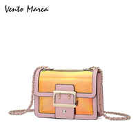 New Women Shoulder Bags Fashion Handbags Dazzle Colour Transparent Laser Jelly Pack Changing Color Woman Messenger Crossbody Bag