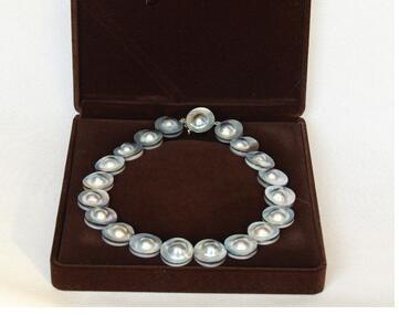 Femmes cadeau mot bijoux belle AAA + naturel 17