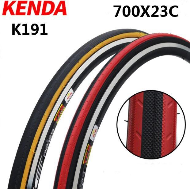 KENDA pneu de vélo K191 pneus de vélo de route pneu 700 * 23C 700C pneus de cyclisme pneu bicicleta maxxi pièces 8 couleurs vente chaude