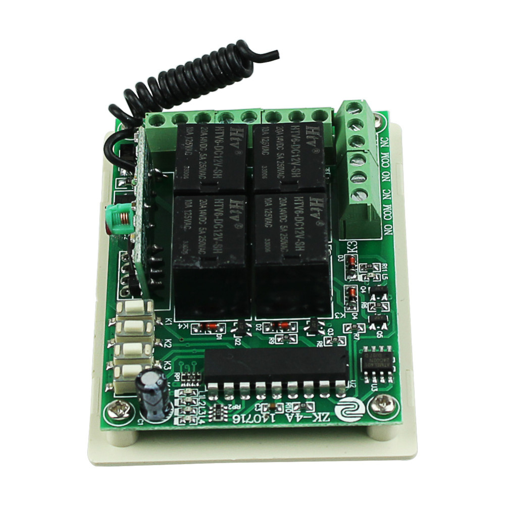 Dc 12v 4ch 1ch Independent Relay Wireless Remote Light Switch 2ch Toggle A This Circuit Will Each Momentary 315mhz 433mhz In Switches From Lights Lighting On