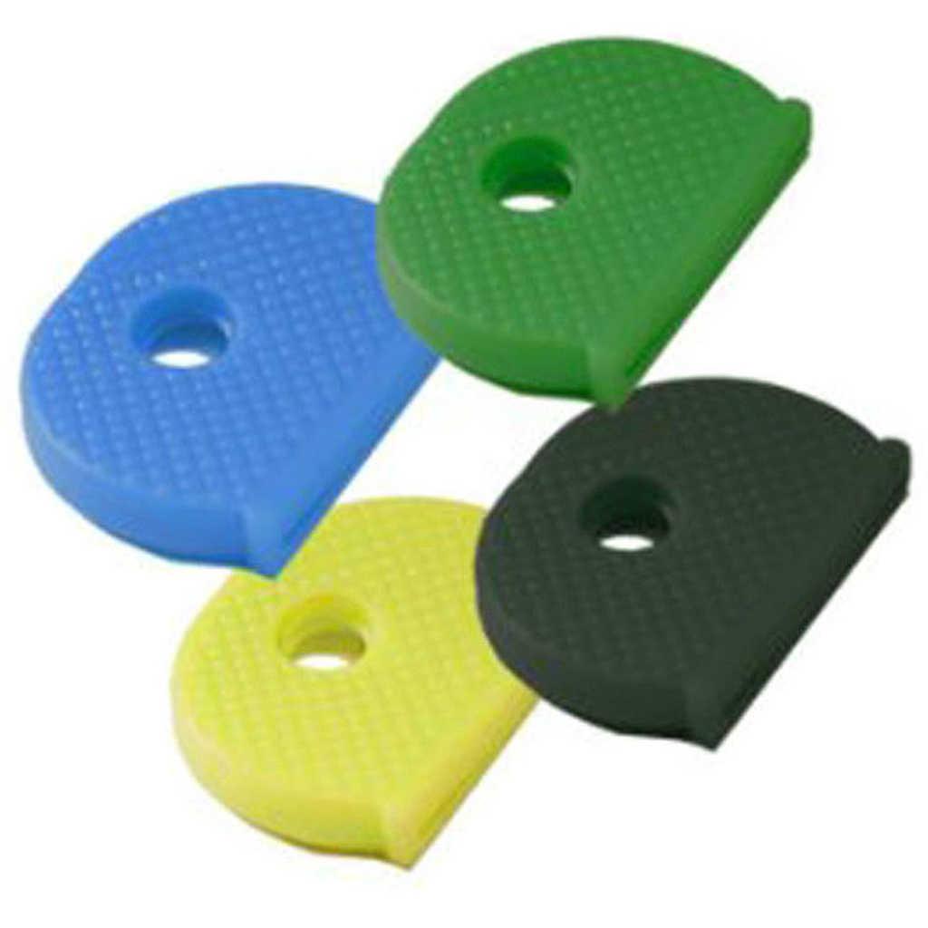 24 piezas de colores surtidos suave PVC llave superior tapa funda soporte llavero Topper