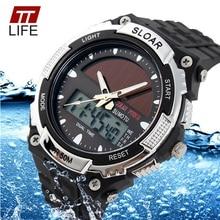 TTLIFE Brand Solar energy Men SportsWatches Outdoor Military LED Watch Fashion Digital Quartz Multifunctional Dress Wristwatches