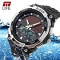 TTLIFE Marca Hombres SportsWatches de energía Solar Al Aire Libre LED Militar Reloj de Moda Vestido de Pulsera de Cuarzo Digital Multifuncional