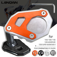 CNC Motorcycle Kickstand Side Stand Plate Pad Enlarge Extension For KTM 1050 1090 1190 1290 Adventure