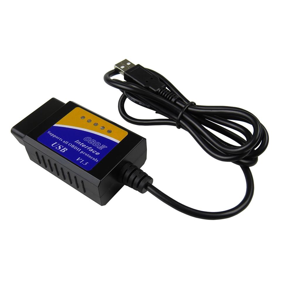 Elm327 USB OBD2 OBDII Scanner ELM 327 USB V1.5 Car Diagnostic Interface Scanner Tool (4)