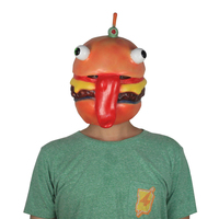 Popular Games Around The Fortress Night Fortite Burger Head Cosplay Anime Mask Beef Shop Boss Props For Men And Women Apply