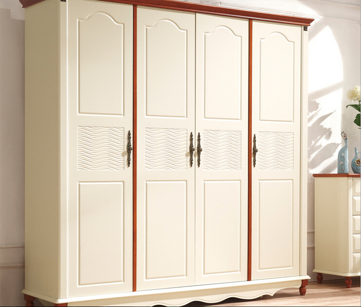 US $800.0 |classic white bedroom furniture european wooden wardrobe 023-in  Wardrobes from Furniture on AliExpress