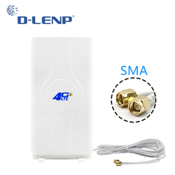 Dlenp 88dBi 4G LTE MIMO Antenna 2-SMA RSJ 700-2600Mhz With SMA Male Connector Booster Panel Antennas with 2 Meters Cable
