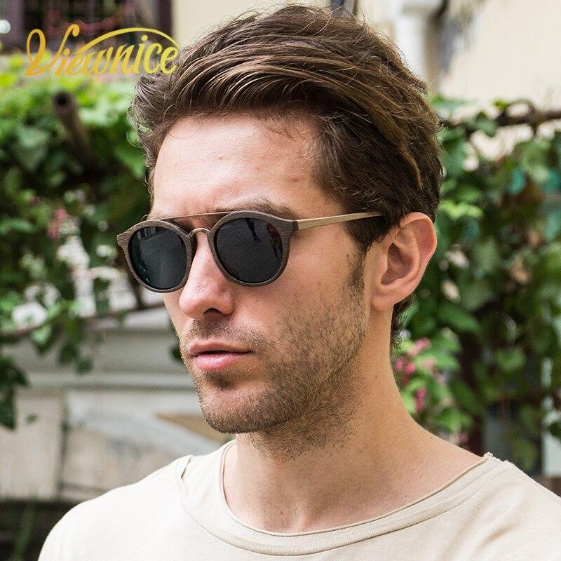 Viewnice lunettes De soleil bois Vintage