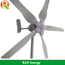 1000W wind generator 5 blades, 24V/48V optional wind power generator, start up 3m/s, used for land and boat, CE approval