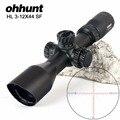 Ohhunt HL 3-12X44 SF Compatto Ottiche da caccia Cannocchiali da fucile di Vetro Acidato Reticolo Side Parallax Torrette di Reset Blocco di Ripresa Scope