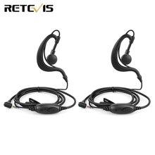 2 قطعة EE090Z 1 Pin 2.5 مللي متر PTT المتحدث MIC الأذن سماعة أذن خطافية ل RETEVIS RT20 جهاز مرسل ومستقبل صغير الأعمال راديو