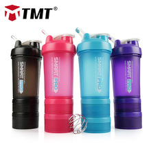 TMT Gym Sport Water Shaker Bottle PP Protein Powder Box Fitness Mixed 316 Portable Big No-BPA Outdoor Accessories