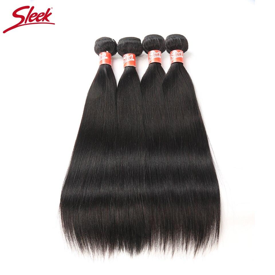 Малайзии прямые волосы 4 пучки Дело 10 до 28 дюймов sleek не Реми прямые волосы Ткань Расширение двойной утка человеческих пучки волос ...
