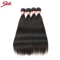 Малайзии прямые волосы 4 пучки Дело 10 до 28 дюймов sleek не Реми прямые волосы Ткань Расширение двойной утка человеческих пучки волос
