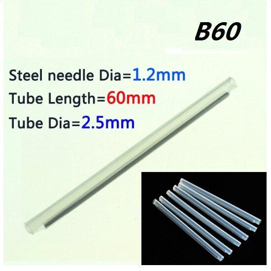1000pcs Standard Fiber optic fusion splice protection sleeve VD B60 OD 2 5mm L 60mm Heat