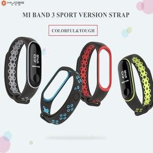 Image 3 - Sport Mi Band 3 4 Strap handgelenk gurt für Xiaomi mi band 3 sport Silikon Armband für Mi band 4 3 band3 smart uhr armband