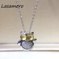 LASAMERO Halo 0 05 CT Round Cut Pave Set 18k Gold Natural Diamond Pendant Necklace