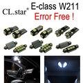 25 unid X Error LED libre de La Lámpara Kit de Luz Interior Para Mercedes para Mercedes-benz clase E W211 E350 E430 E55 AMG Sedan Bienes (02-08)