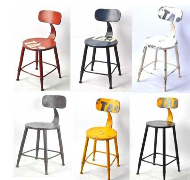 The New American Retro Bar Stool Chair Creative Cafe Tables And Chairs Hotel Reception Elevator High Foot Board In From Furniture On