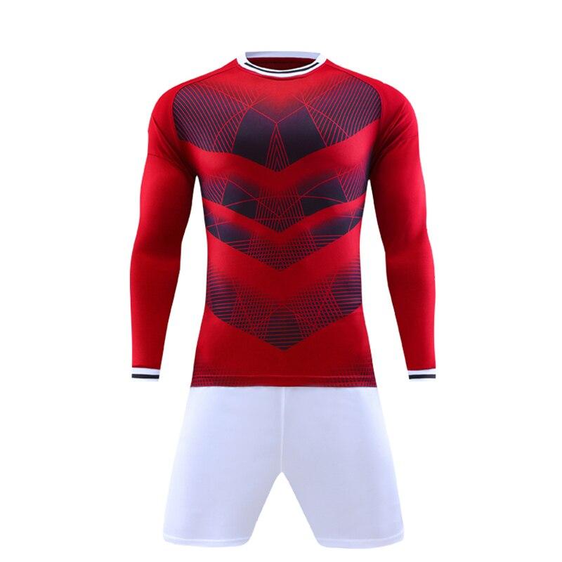 New Men Sport Running Survetement font b Football b font Jersey Set Long Sleeved Suit Soccer