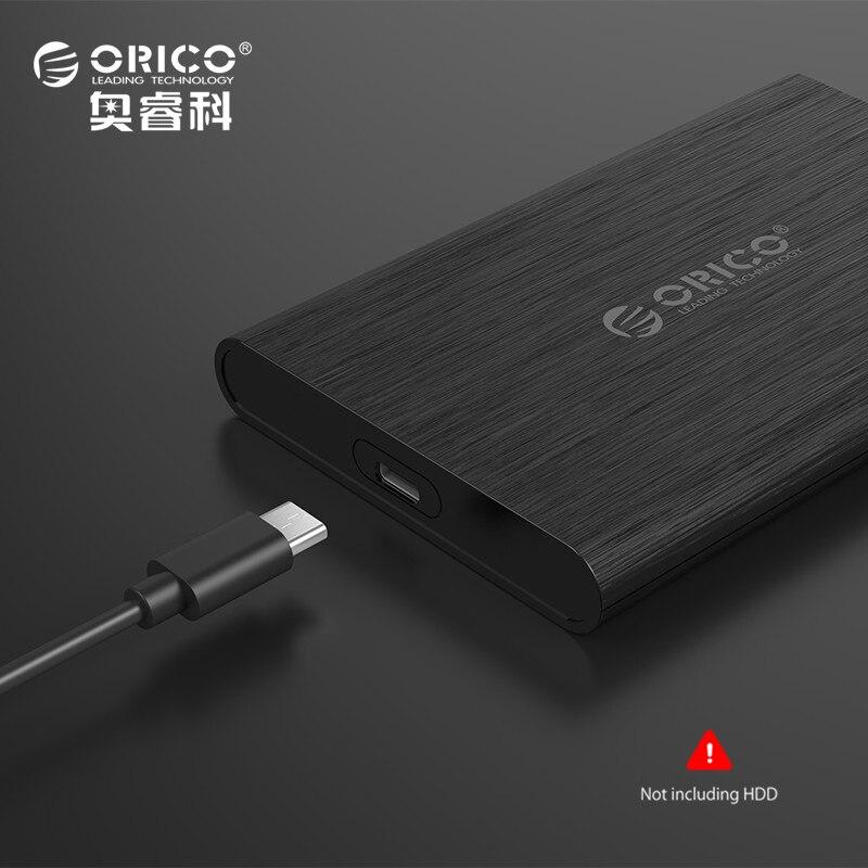 ORICO Caja de Alta Velocidad 2.5 Pulgadas USB3.0 Tipo A a Tipo C del Recinto de Disco Duro Externo para UASP Apoyo SSD SATA III